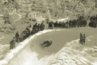 Bayernkurve der Bobbahn am Riessersee